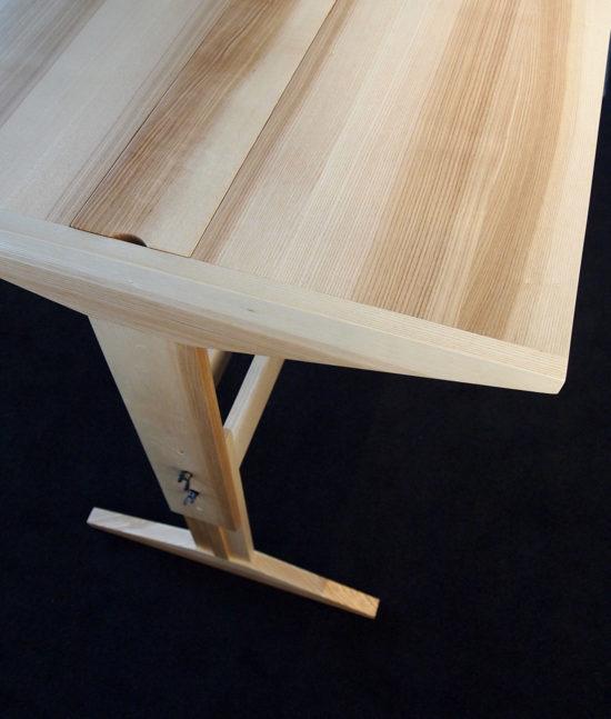 Schreibtisch, Arbeitstisch, höhenverstellbar, Holztisch