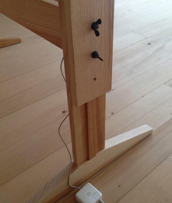 Schreibtisch, Arbeitstisch, höhenverstellbar, Holztisch, Schultisch